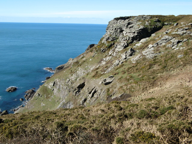Cliff at Bolberry Down, Bolberry