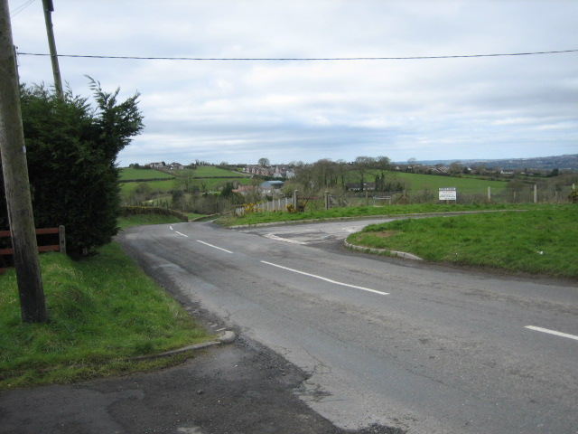 Dow's Road joins Mealough Road.