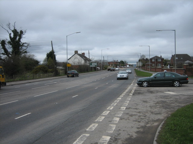 The A24 Downpatrick to Belfast road.