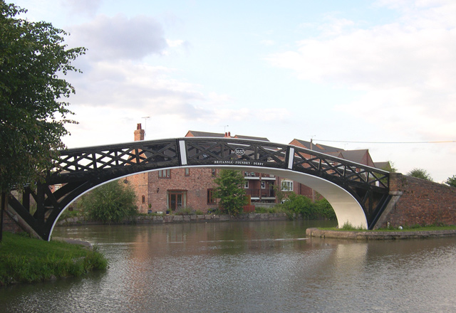 Iron Bridge at Hawkesbury Junction, Coventry Canal