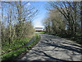 SS9369 : View along minor road towards Capel, Vale of Glamorgan by Peter Wasp