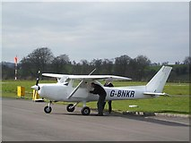 H2349 : Plane at St Angelo Airfield by Kenneth  Allen