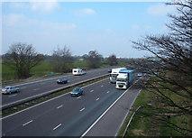 SJ7466 : M6 Motorway south of Junction 18 by michael ely