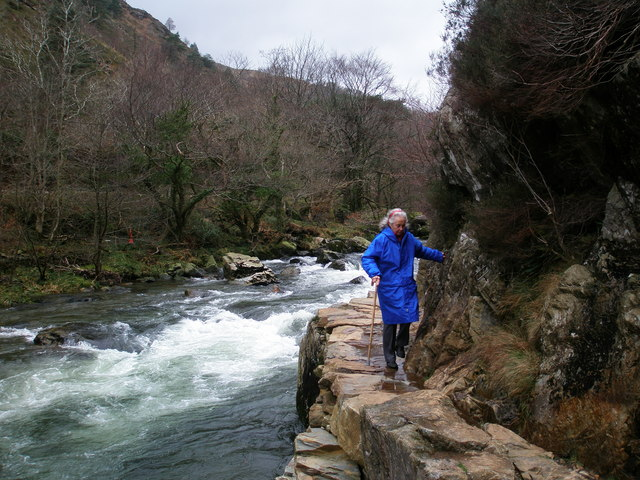 Fishermans path in Aberglaslyn pass