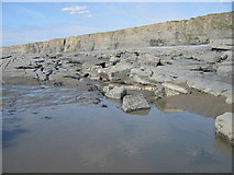 SS9168 : Low Water, Near Nash Point, Vale of Glamorgan. by Peter Wasp