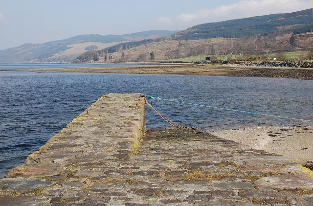 Quay at Otter Ferry