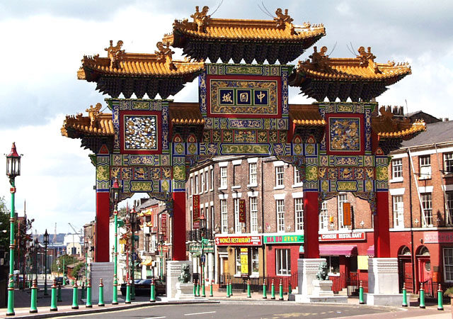 Chinese Arch, 'Chinatown', Liverpool