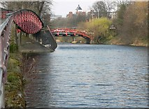 SK5803 : Two bridges on the Grand Union Canal in Leicester by Mat Fascione