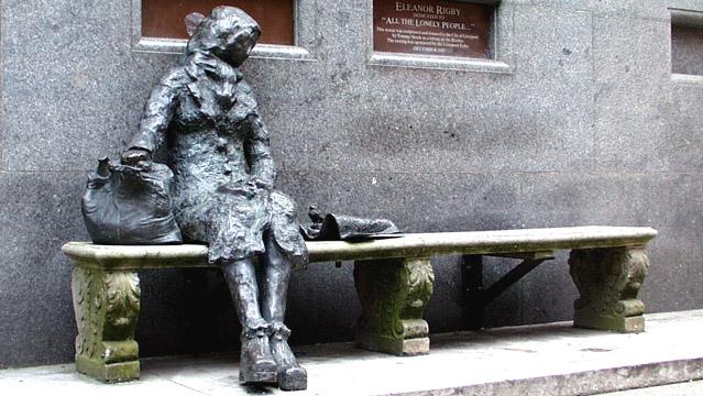 Eleanor Rigby bronze, Stanley Street