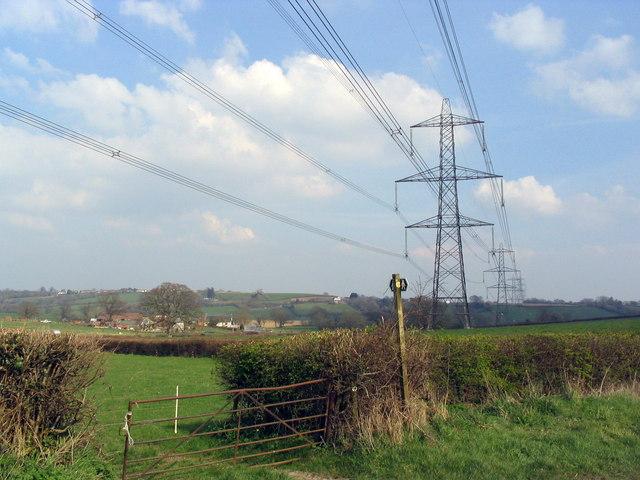 Bidlake Farm and more pylons
