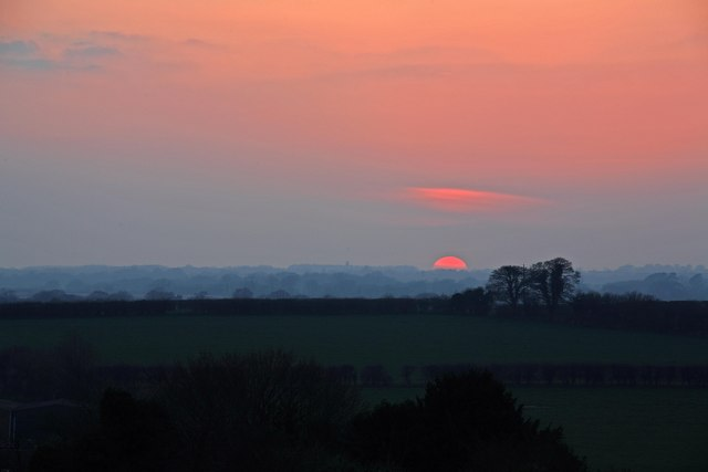 Sunset over Manor Farm Sixpenny Handley