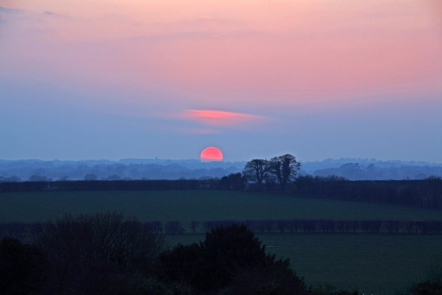 Sunset over Manor Farm Sixpenny Handley