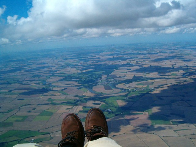 Coldstream from 4,500 ft in my Paraglider