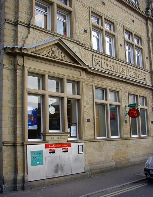 Detail of the Post Office, Park Street, Brighouse