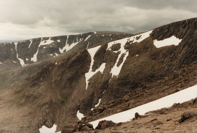 Looking south west from the edge of Coire Bhrochain