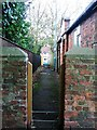 NZ4525 : Footpath Between the Church and the High Street, Wolviston by Mick Garratt