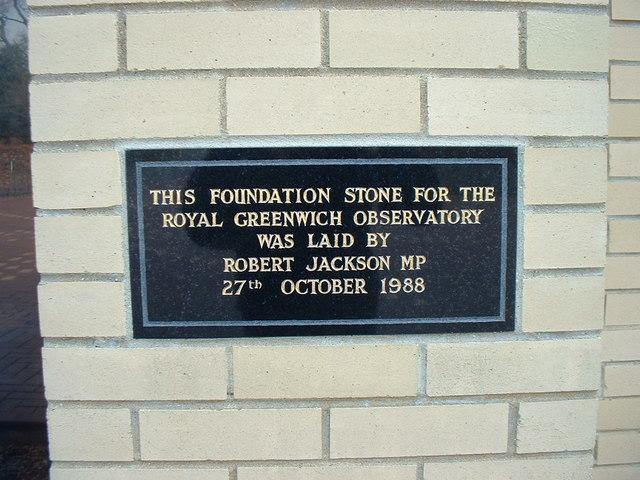 Greenwich House: foundation stone