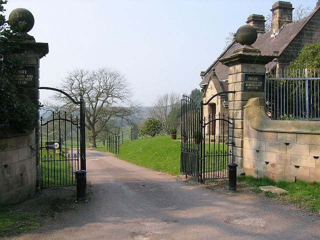 Lodge house at an entrance to Wootton Park
