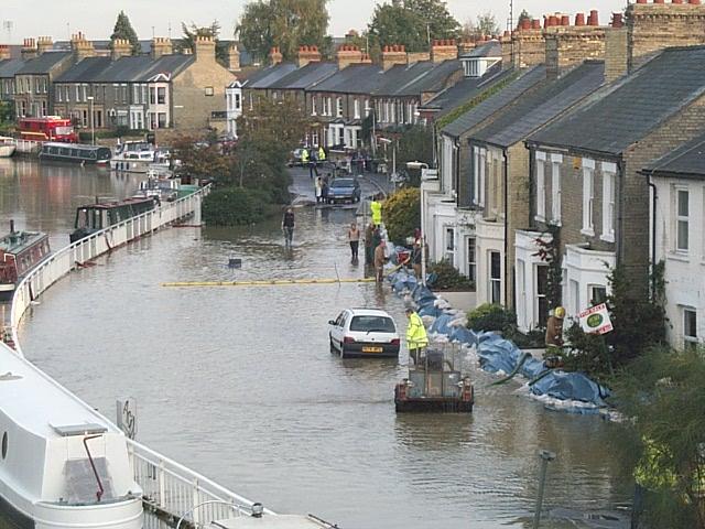 Flooding on Riverside, Cambridge