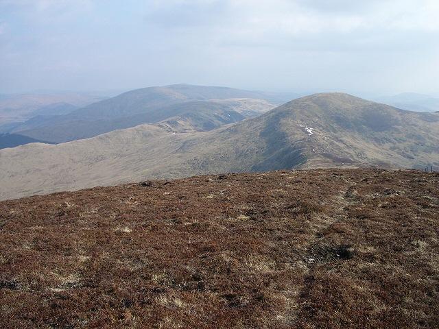 Southeast along the ridge