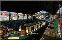 SO8453 : Diglis Basin Dry Docks by Chris Allen