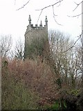 SW8441 : Old Kea Church Tower. by Fred James