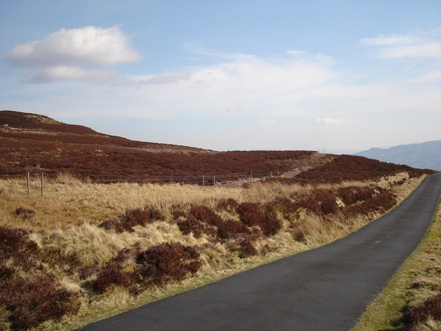 Grouse Moorland around a tributary of the River Quaich.