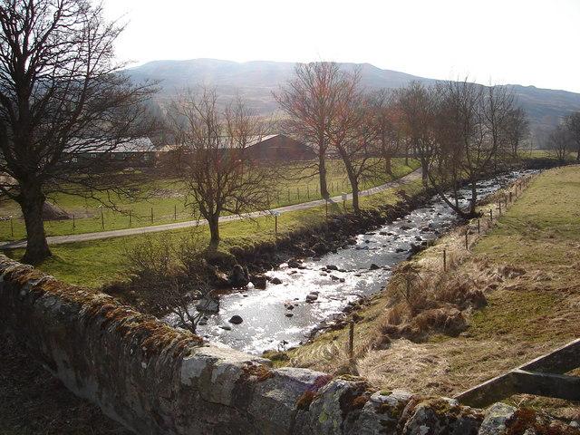 River Quaich by Caisteal Dubh