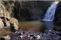 J3996 : Glenoe waterfall (11) by Albert Bridge