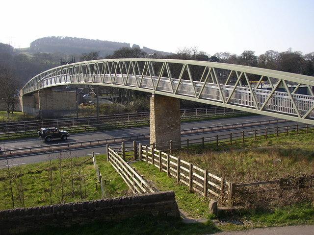 Footbridge over the bypass, Bingley