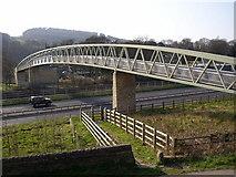 SE1039 : Footbridge over the bypass, Bingley by Humphrey Bolton