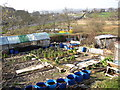 SE1039 : Allotments next to the canal, Bingley by Humphrey Bolton