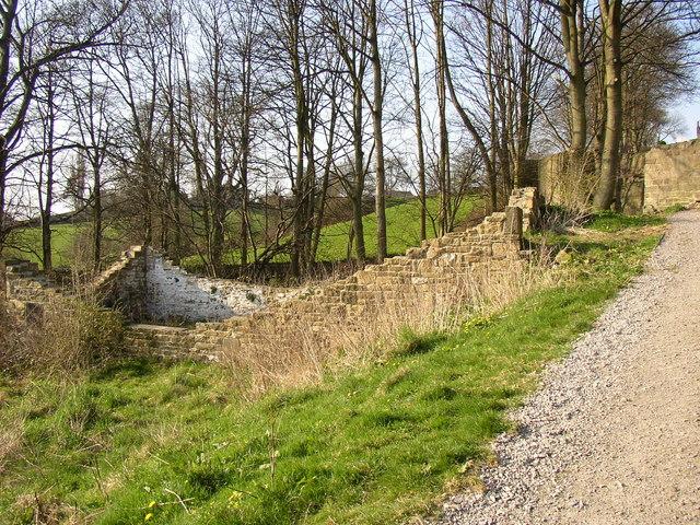 Ruin next to the five-rise locks, Bingley