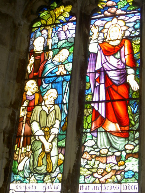 Stained Glass Window at Aughton Church