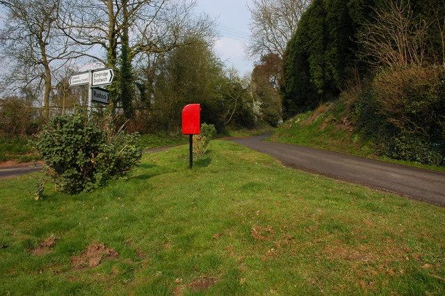 Road junction in Rushock
