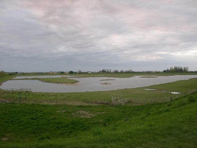 Artificial lagoon, Freiston Shore managed realignment site