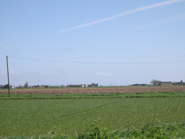 Agricultural field and buildings
