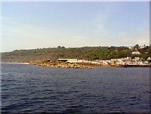 SY3491 : Lyme Regis harbour from seaward. by Stephen Williams