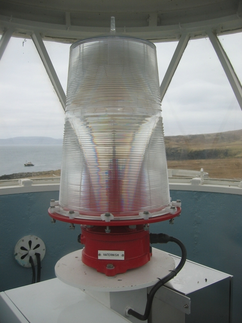 The lamp in the Waternish lighthouse