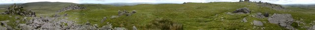 A panorama of Carn Menyn
