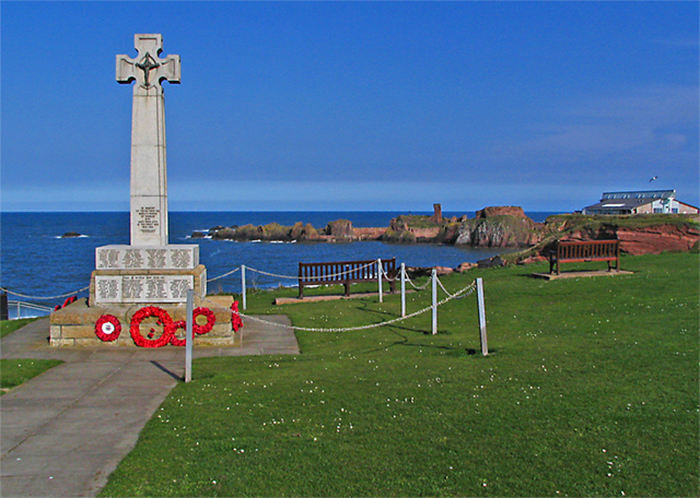 War Memorial above the sea