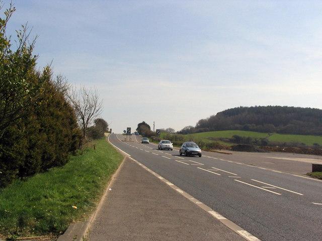 A35 near Morcombelake looking east
