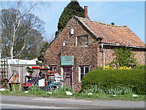 NZ3404 : The Saddler's Shop, Great Smeaton by Martin Kirk