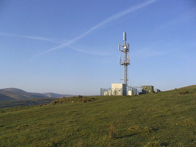 Radio Mast on Watch Knowe