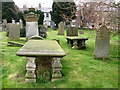 NU1034 : The graveyard, St Mary's Church by Lisa Jarvis