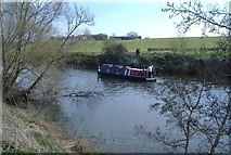 ST6868 : Narrow-boat, on the Avon by Roger Cornfoot
