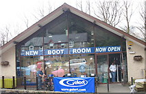 SH5848 : The New Boot Room at Y Warws by Eric Jones