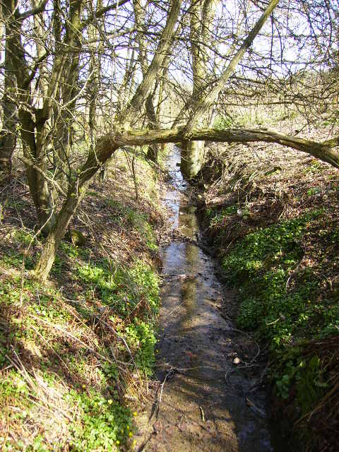 Watercourse crossed by The St.Cuthbert's Way long distance walking route