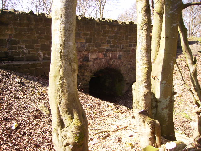 Sandstone culvert carrying the A68 road (Dere Street)