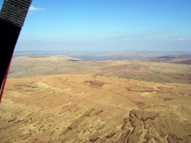 Dod Fell summit from my paraglider
